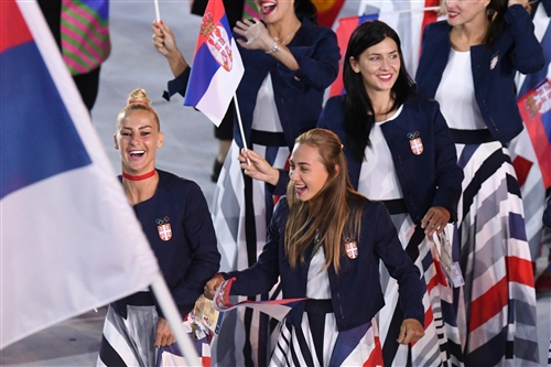 Team Serbia Women at the Opening Ceremony