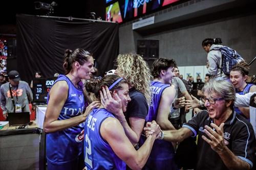9 Giulia Ciavarella (ITA), 8 Giulia Rulli (ITA), 2 Rae Lin D'alie (ITA), 5 Marcella Filippi (ITA)