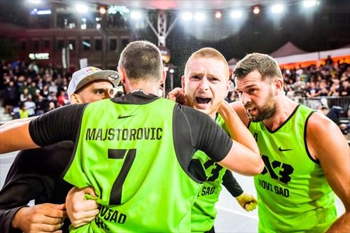 3 Marko Savić (SRB), 4 Tamás Ivosev (SRB), 7 Dejan Majstorovic (SRB), Novi Sad vs Liman