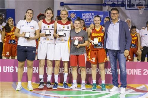 10 Ainhoa Lacorzana (ESP), 15 Luisa Geiselsoder (GER), 13 Leonie Fiebich (GER)