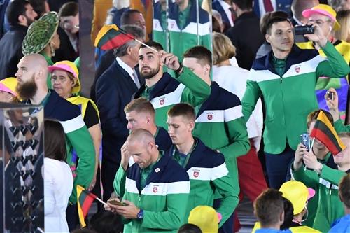 Jonas Valanciunas, Team Lithuania - Opening Ceremony
