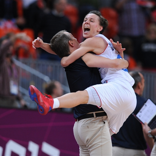 Emotional moment, France's first ever Olympic Medal in women's basketball
