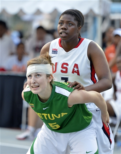 #5 Sirsinaityte (Team Lithuania) vs #7 Ogunbowale (Team USA)