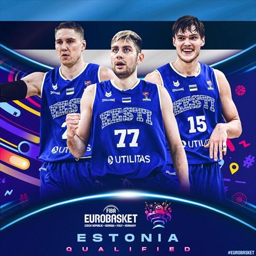 Estonia qualified for FIBA EuroBasket 2022 on February 22, 2021
