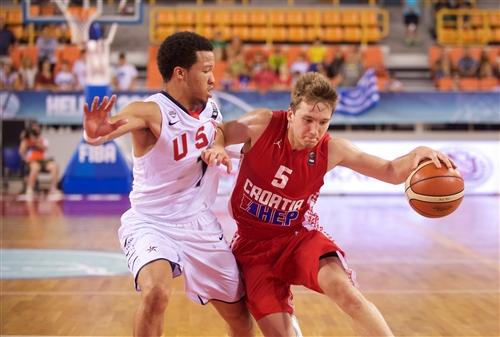 5 Goran FILIPOVIC (Croatia); 7 Jalen  BRUNSON (USA)