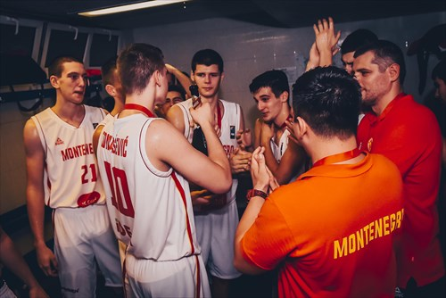 Silver medalists Montenegro