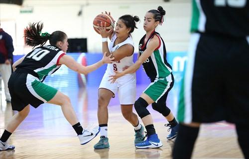 10 Alejandra Arreola Gerardo (MEX), 5 Katia Gallegos (MEX), 8 Yulianny Perez (VEN)