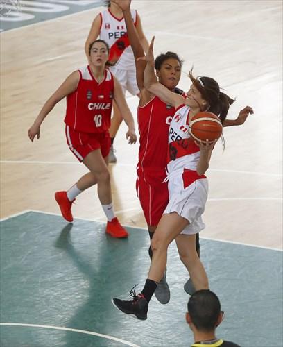 13 Ximena Vega (PER), 7 Ziomara Morrison (CHI), 10 Barbara Cousiño (CHI)