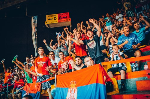 Fans of Serbia