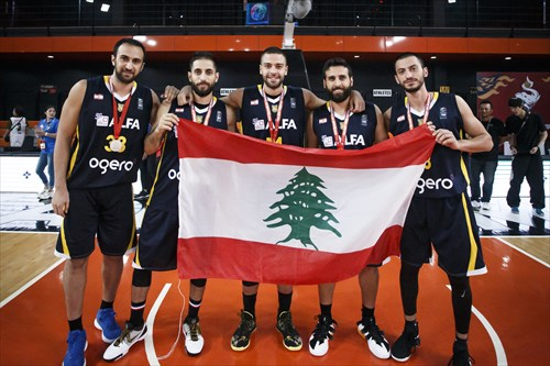 33 Bassel Bawji (RIY), 14 Mohamad Bilal Tabbara (RIY), 5 Amir Saoud (RIY), 8 Hicham El Helou (RIY), 11 Miguel Martinez (RIY)