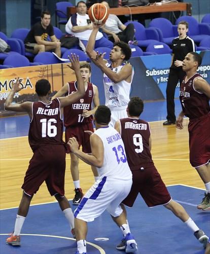 9 Andres Marrero (VEN), 16 Enderson Alcala (VEN), 13 Marlon Saint Hilaire (DOM), 4 Malvin Payero (DOM)