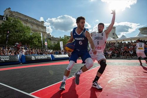 5 Aleksandar Ratkov (SRB), 6 Charly Pontens (FRA), Serbia vs Franc