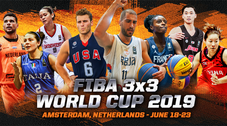 Reigning champions Serbia and Italy headline first list of participants for FIBA 3x3 World Cup 2019