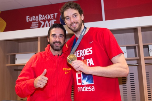 Juan Carlos Navarro and Pau Gasol (Spain)