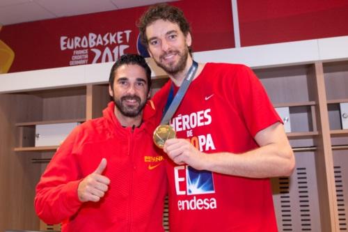 Juan Carlos Navarro and Pau Gasol (Spain)