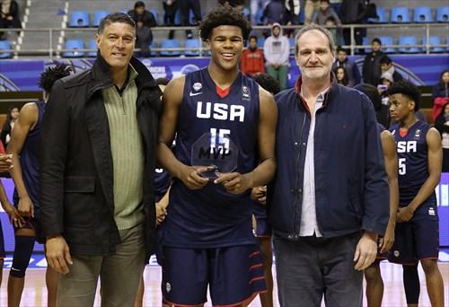 15 Vernon Carey Jr. (USA) MVP, Jose Ortiz (FIBA), Sebastian Uranga (CABB)