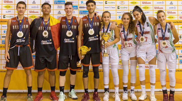 Belgium's men and Hungary's women win FIBA 3x3 U18 Europe Cup 2017