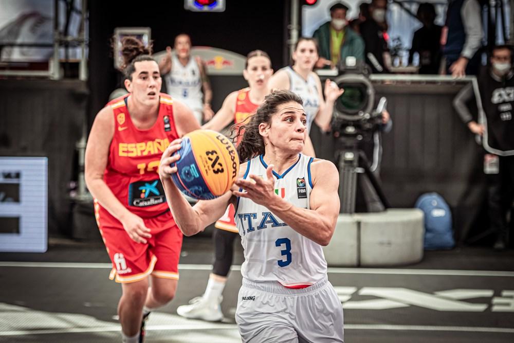 Pre-olimpico 3×3 Femminile: Italia ko con la Spagna all'esordio