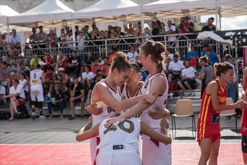 18 Anna Leshkovtseva (RUS), 11 Anastasia Logunova (RUS), 10 Aleksandra Stolyar (RUS), 7 Tatiana Petrushina (RUS), Spain vs Russia