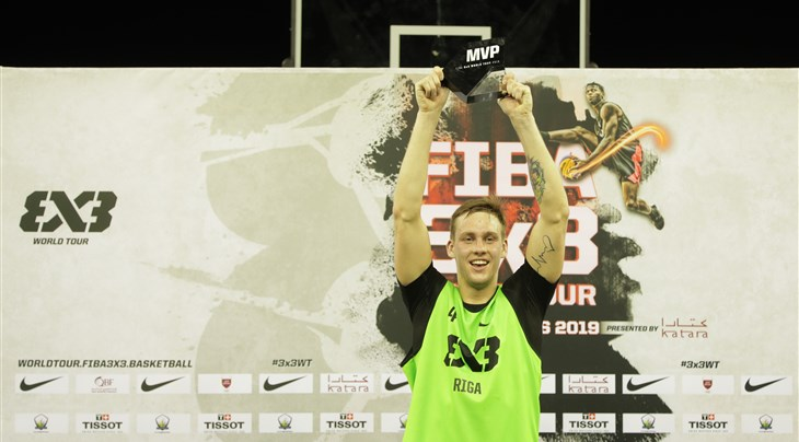 Top-scorer Lasmanis named FIBA 3x3 World Tour Doha Masters MVP