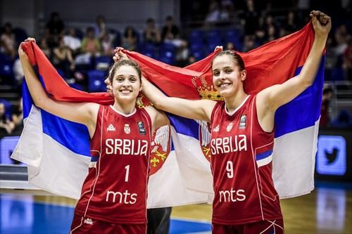 9 Teodora Turudic (SRB), 1 Nevena Naumcev (SRB), ESP vs SRB