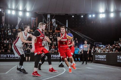 3 Nils Ozoliņš (LAT), 1 Roberts Pāže (LAT), 4 Alexander Zuev (RUS), 3 Aleksandr Antonikovskii (RUS), 1 Stanislav Sharov (RUS)