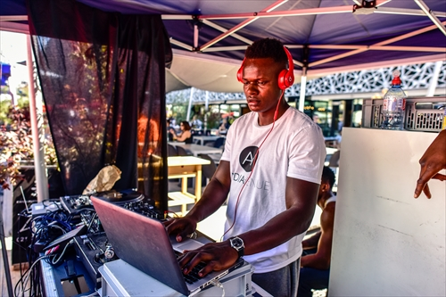DJ at the Urban project 3x3 basket event
