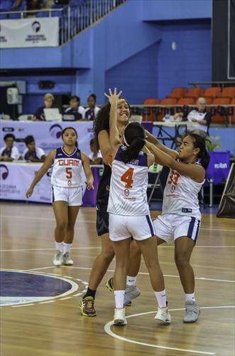 5 Brittany Shae Jose Meno (GUM), 4 Camarin Elaine Miranda Hattori (GUM), 33 Rosita Maria Diaz Duenas (GUM)