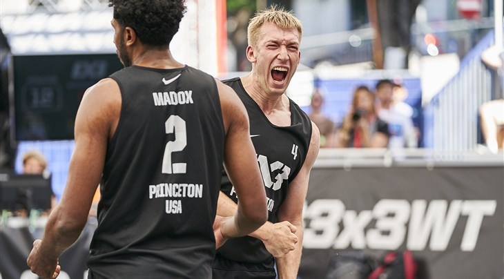 Powerful Princeton flying USA's flag at World Tour Los Angeles Masters powered by L.A. Times