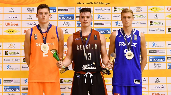 MVP Peeters shines on FIBA 3x3 U18 Europe Cup 2017 Team of the Tournament