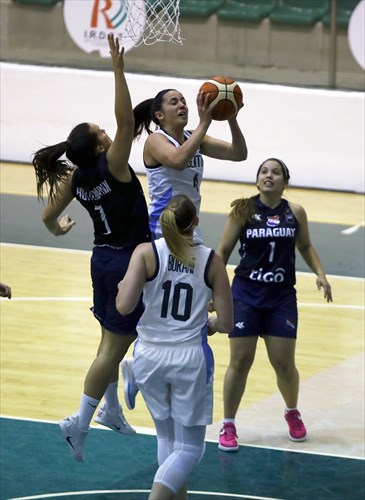 1 Maria Mercado (PAR), 7 Astrid Huttemann (PAR), 4 Macarena Rosset (ARG)