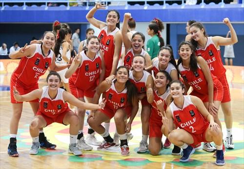 Team Chile Celebrates