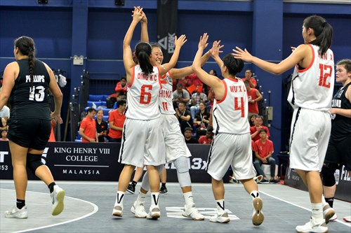 13 Kay-hauata Terina Phillips (NZL), 12 Han Xu (CHN), 6 Ding Kangchen (CHN), 11 Ziting Tang (CHN), 4 Xianglin Wu (CHN)