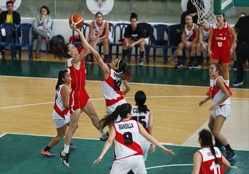 13 Tatiana Gomez (CHI), 9 Romina Mansilla (PER), 13 Ximena Vega (PER)