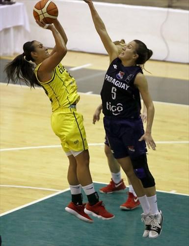 12 Jenifer Muñoz (COL), 6 Marta Peralta (PAR)