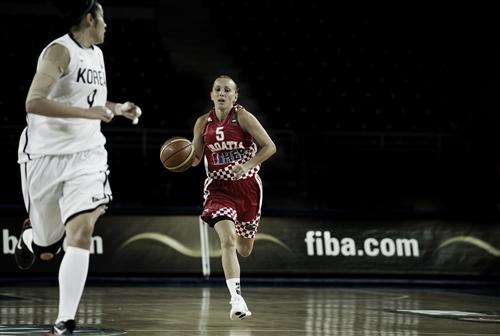 Andja Jelavic (Croatia) dribbles her way to London 2012