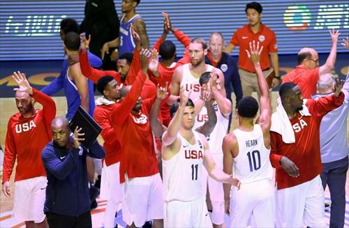 Team USA salute