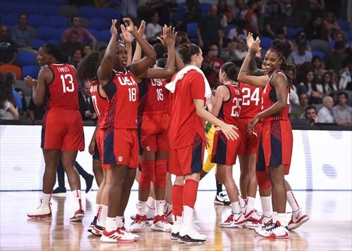 USA celebrates first victory
