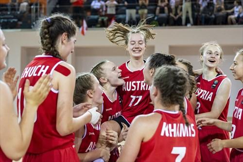 A jubilant Austria after winning gold