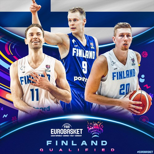 Finland qualified for FIBA EuroBasket 2022 on February 19, 2021