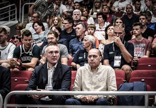 FIBA Executive Director Europe Kamil Novak and FIBA Europe President Turgay Demirel