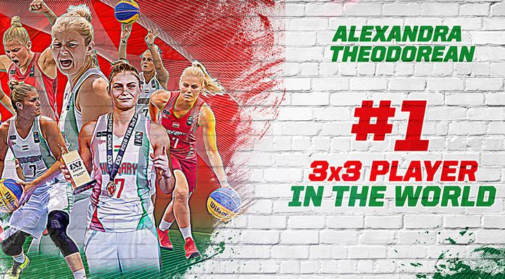 Theodorean ends season on top of FIBA 3x3 women's ranking