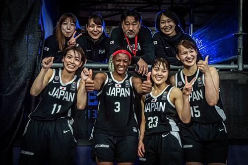 23 Mai Yamamoto (JPN), 15 Risa Nishioka (JPN), 11 Mio Shinozaki (JPN), 3 Stephanie Mawuli (JPN)