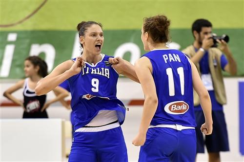 11 Francesca Pan (ITA), 9 Cecilia Zandalasini (ITA), ESP vs ITA