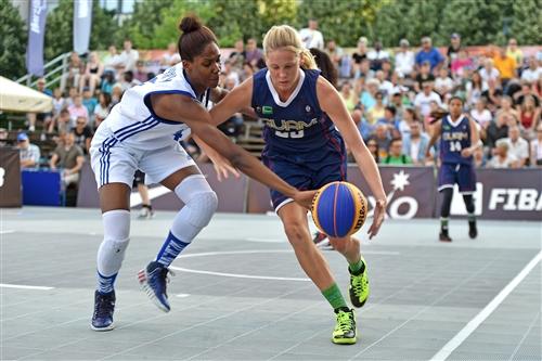 FRA vs GUM; Francesca DORBY (France); Alison BOWMAN (Guam)