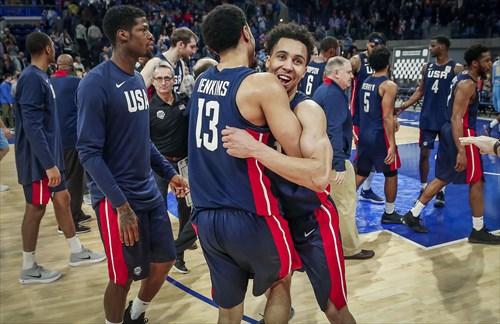 USA qualifies for FIBA 2019 World Cup, 13 John Jenkins (USA), 8 Travis Trice (USA),