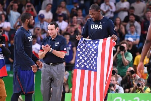 Mike Krzyzewski (USA), 10 Kyrie Irving (USA), 5 Kevin Durant (USA)
