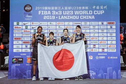 32 Moe Nagata (JPN), 23 Mai Yamamoto (JPN), 15 Risa Nishioka (JPN), 3 Stephanie Mawuli (JPN)