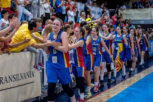 24 Helga Csurulya (ROU), 23 Carla Popescu (ROU), 21 Irina Parau (ROU), 13 Alexandra Ghita (ROU), 15 Ilinca Paun (ROU), 11 Sarah Dumitrescu (ROU), 10 Rebecca Coroian (ROU), 9 Szilvia Spier (ROU), 7 Maria Ferariu (ROU), 6 Denisa Vati (ROU), 12 Daniela Topan (ROU), 5 Nicolett Orban (ROU)