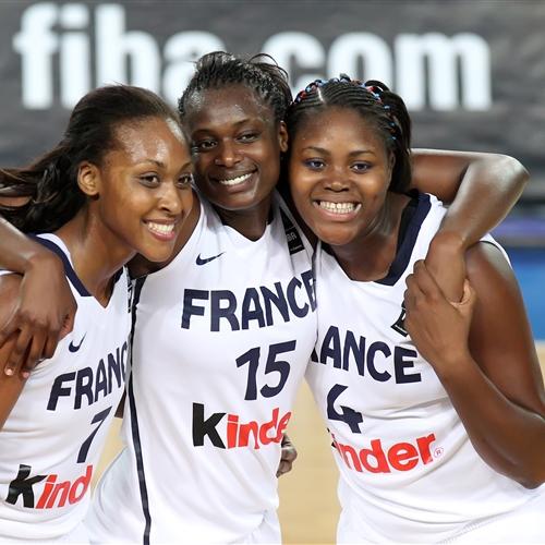 Team France celebrating their qualification